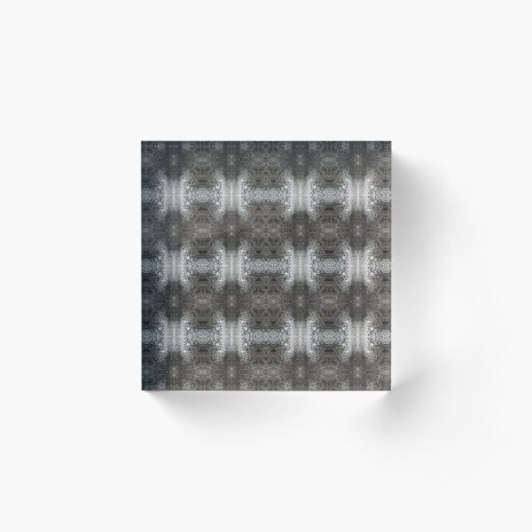 pattern, design, abstract, art, decoration, illustration, old, textile, shape, element Acrylic Block