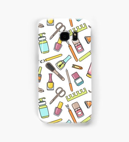 Pattern of manicure and pedicure doodle equipment. Nail art Samsung Galaxy Case/Skin