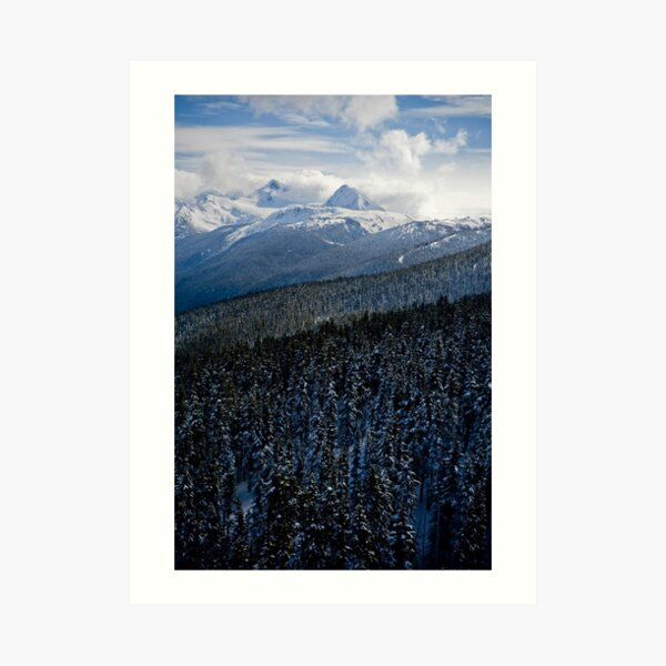 View from Whistler Mountain Art Print