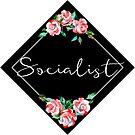 Demokratische sozialistische rote Rose Floral Symbol - TRENDING von CassiSelby