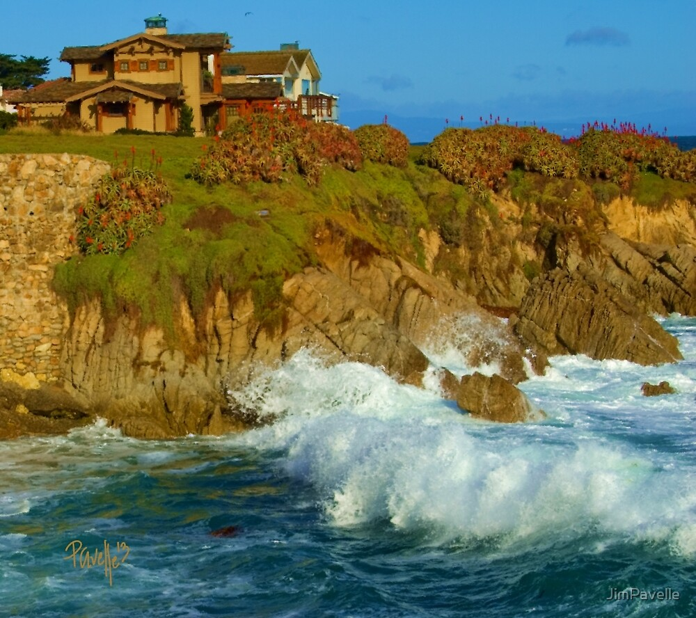 Winter Surf I - Pacific Grove, CA by JimPavelle