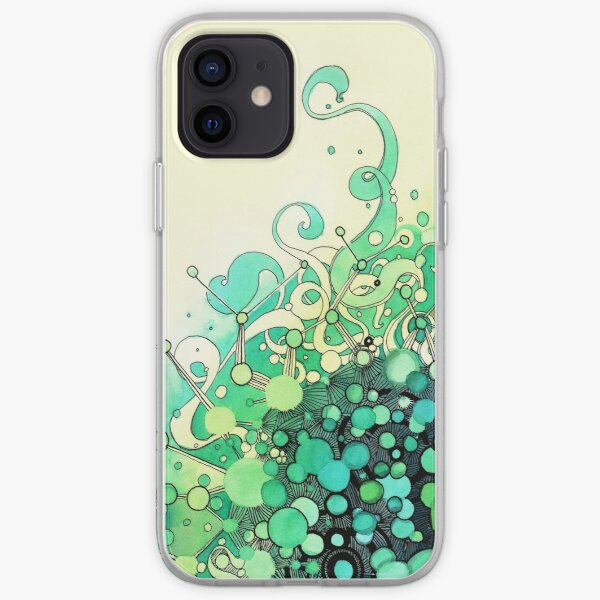 Visible Connections - Watercolor and Pen Art iPhone Soft Case