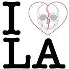 I Heart Skull Los Angeles - love Los Angeles by hazelbasil