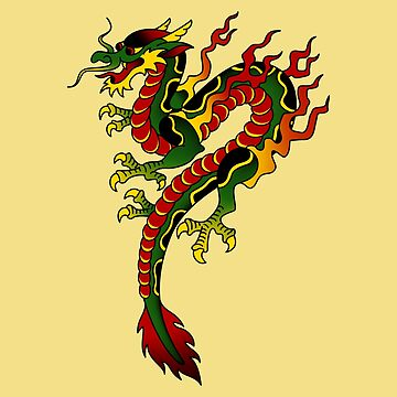 American Traditional Dragon by salty-dog