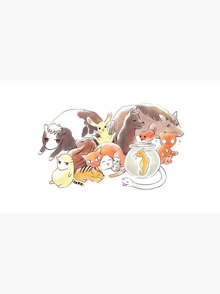 Fruits Basket | Zodiac Animals + Rice ball by Ellenaia