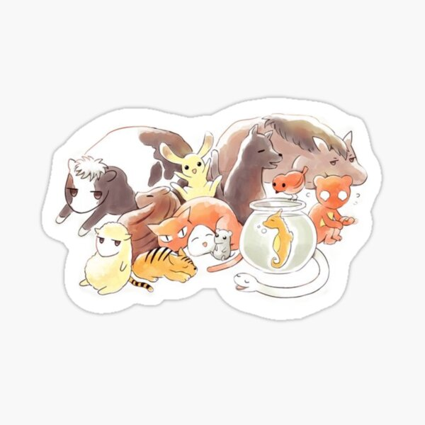 Fruits Basket | Zodiac Animals + Rice ball Sticker