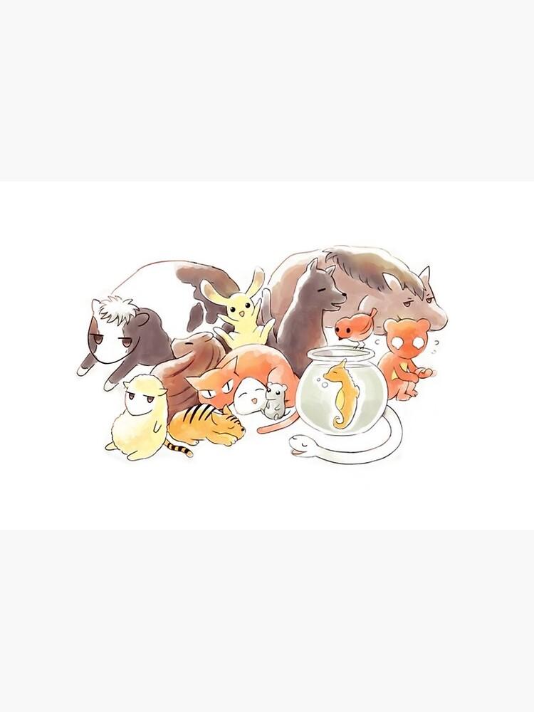 Fruits Basket   Zodiac Animals + Rice ball by Ellenaia