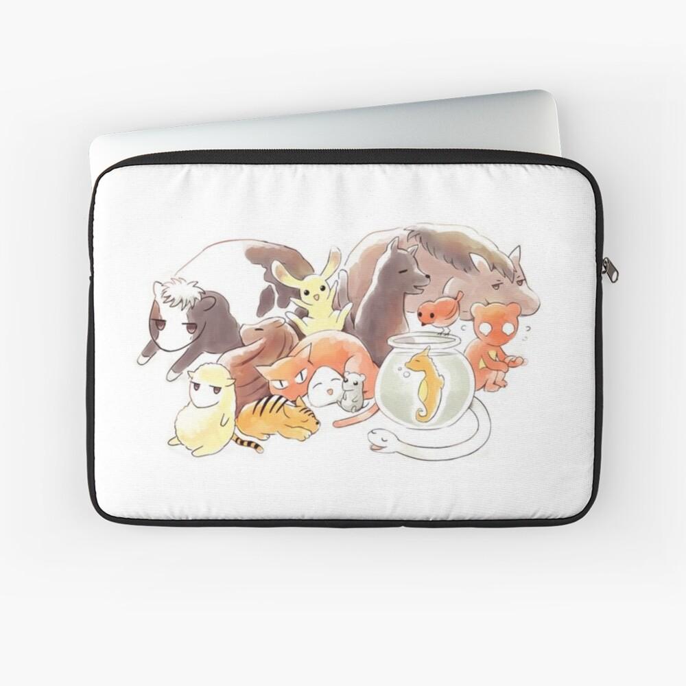 Fruits Basket   Zodiac Animals + Rice ball Laptop Sleeve