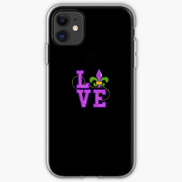 I Love Mardi Gras T-Shirt New Orleans 2019 Gift for Women iPhone Soft Case