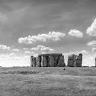 Stonehenge queue by Ken Humphreys