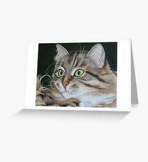 Kusia - lady with emerald eyes Greeting Card