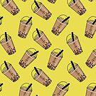 Bubble Tea Seamless Pattern von owliedesign