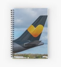 Thomas Cook Airlines Airbus A330 tail in new livery Spiral Notebook
