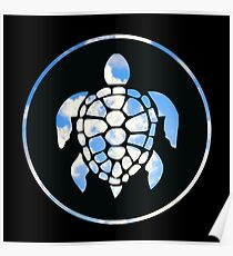 Sky Turtle Poster