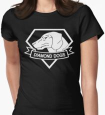 MGSV - Diamond Dogs (white) Women's Fitted T-Shirt