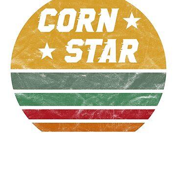 Funny Cornhole T-Shirt Corn Star Ironic Gift by BlueBerry-Pengu