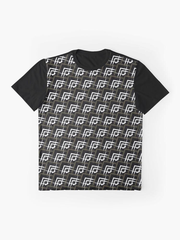 Alternate view of Black White & Bronze Pattern V2019-01 Graphic T-Shirt