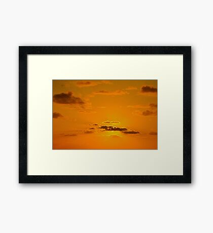 At dawn on the island... Framed Print