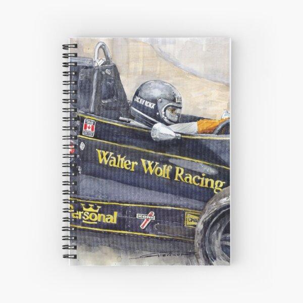 Monaco 1976 Wolf Wiliams FW05 Jacki Ickx Spiral Notebook
