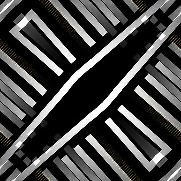 Black and White Geometric Pattern C2019-02 by webgrrl