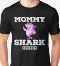 Mommy Shark Tshirt Doo Doo Doo Matching Family Tee Shirt Slim Fit T-Shirt