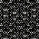 Black White & Bronze Pattern V2019-02 by webgrrl