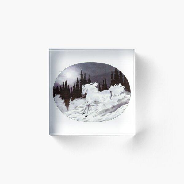 Midnight Stroke  Acrylic Block