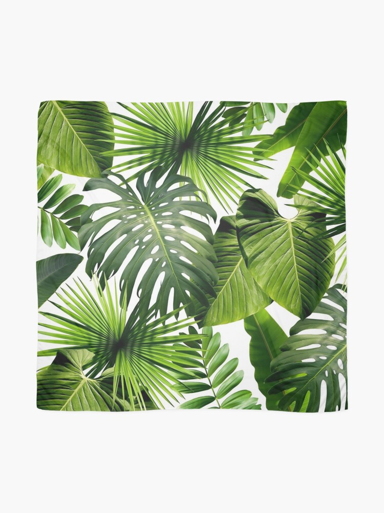 Alternate view of Green Tropical Leaves Scarf
