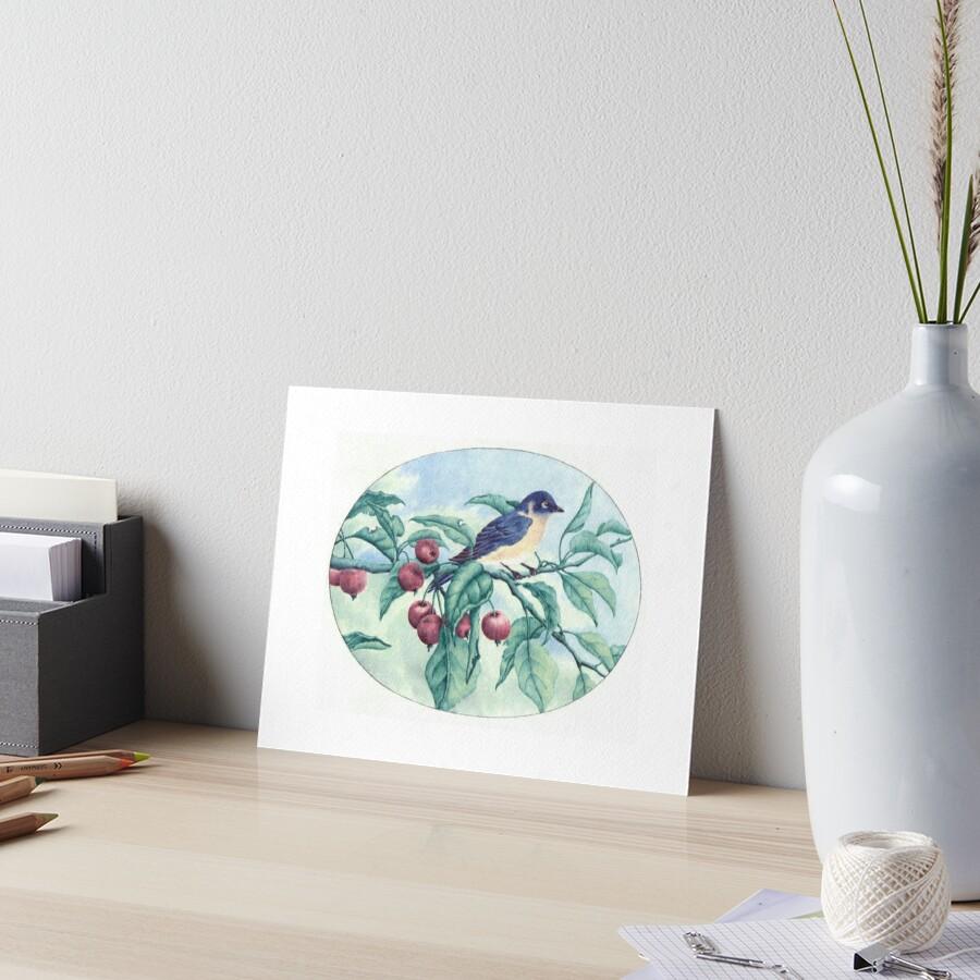 Blue Bird  Art Board Print