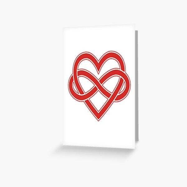 Polyamory Pride Heart Greeting Card