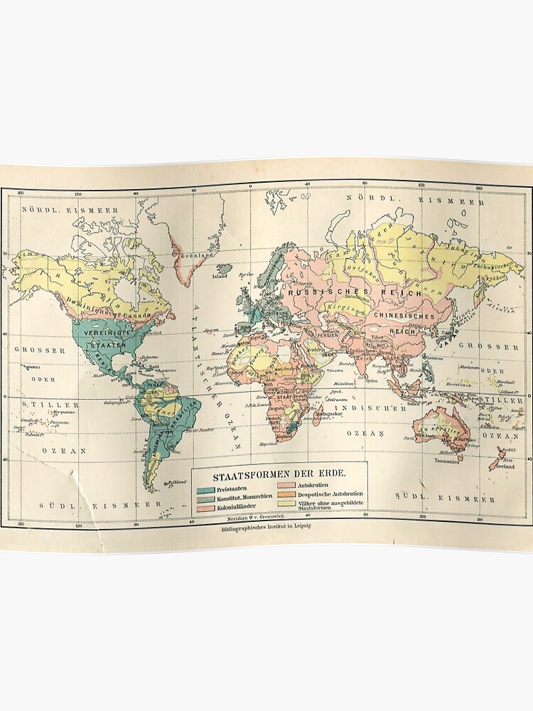Map 1900.Vintage Map World Map 1900 Hq Quality Poster