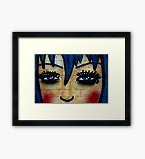 Cartoon Faces Framed Print