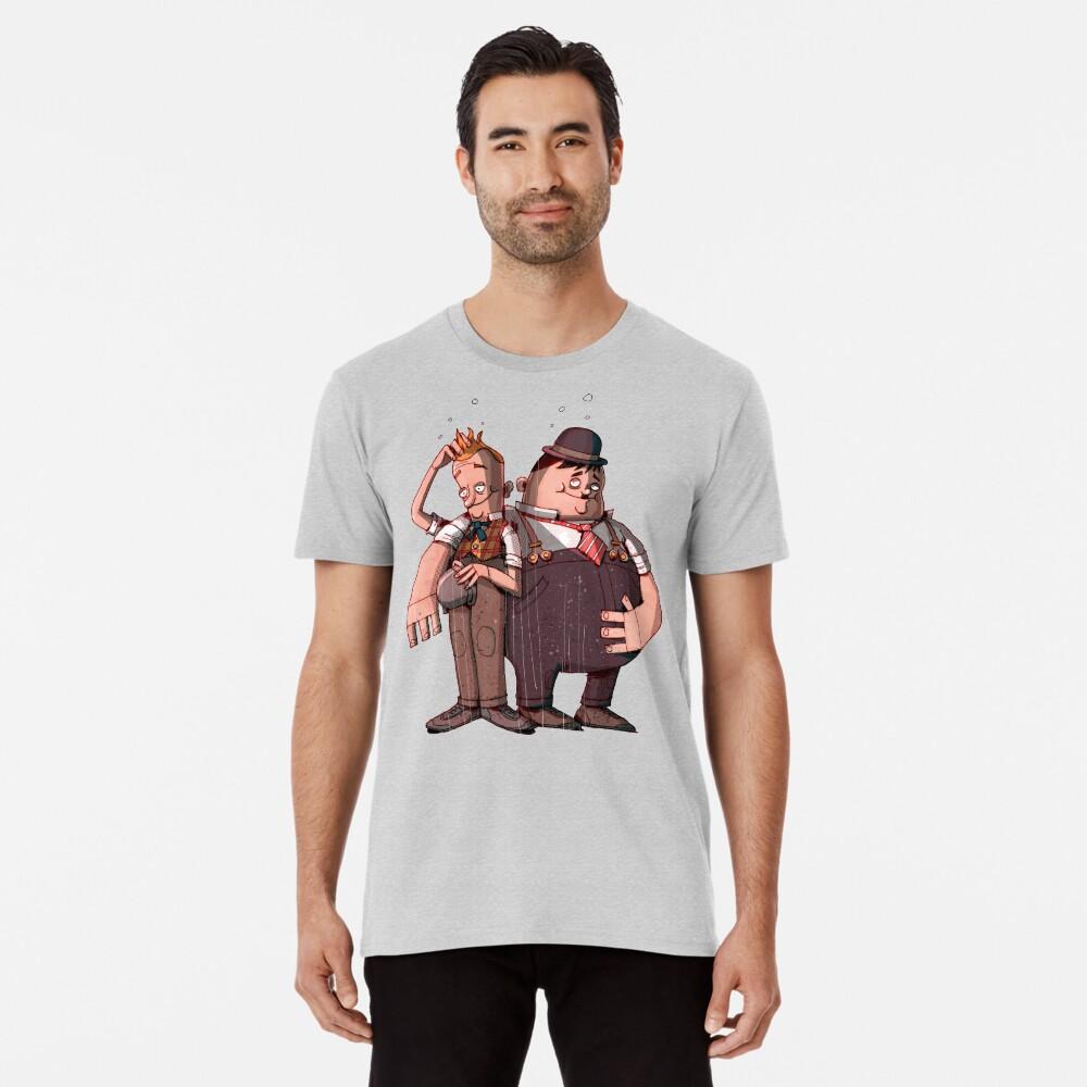 Laurel & Hardy (Mixed media) Premium T-Shirt