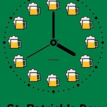 St. Patrick's Day (Saint Patrick Beer Clock / Black) by MrFaulbaum
