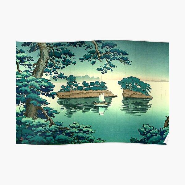 Tsuchiya Koitsu - Rain at Matsushima Poster