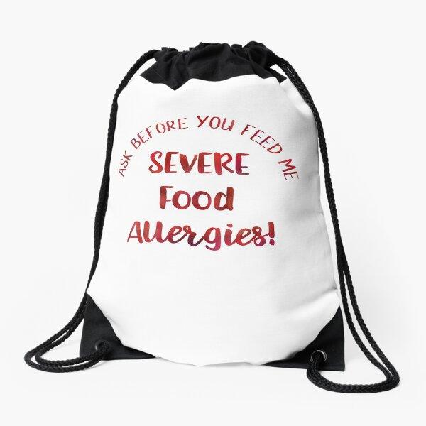 Severe Food Allergies Allergy Alert Drawstring Bag