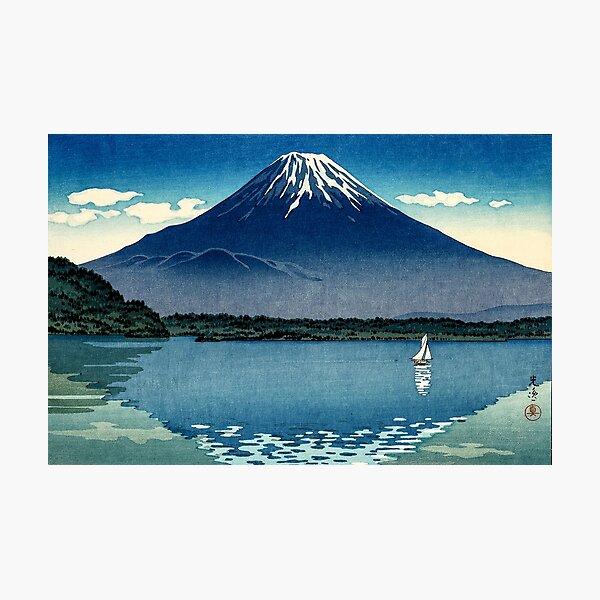 Tsuchiya Koitsu - Mount Fuji and Lake Shoji Photographic Print