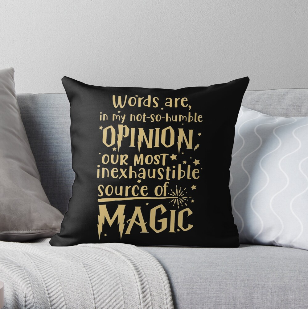 Inexhaustible source of magic Throw Pillow