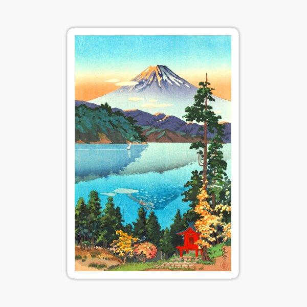 Tsuchiya Koitsu - Lake Ashi in the Hakone Hills Sticker