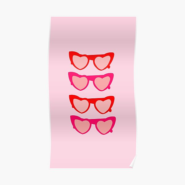 """I HEART YOU"" MULTI SUNGLASSES Poster"
