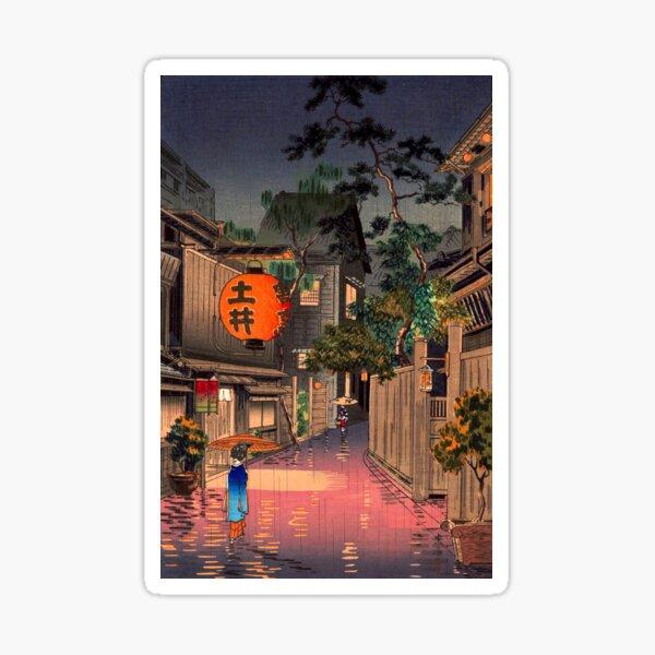 Tsuchiya Koitsu - Evening at Ushigome Sticker