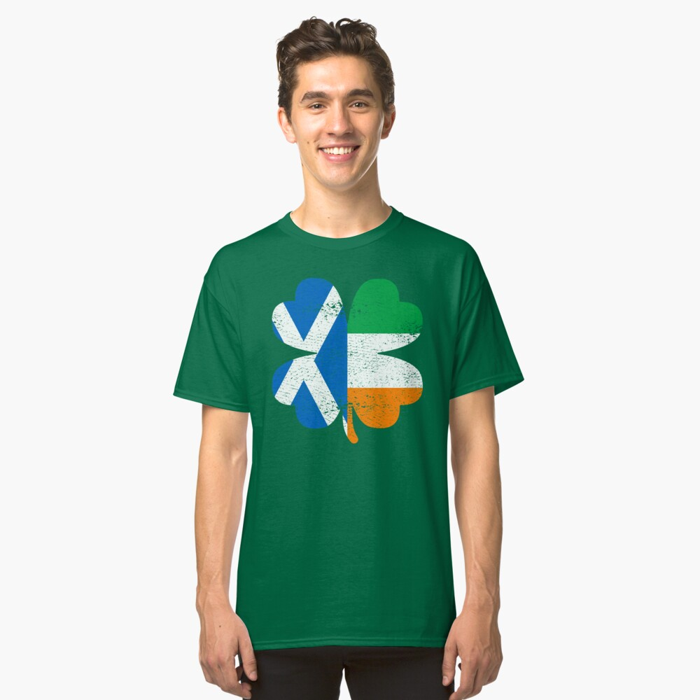 Irish Scottish Ireland Shamrock St Patricks Day Gift Classic T-Shirt