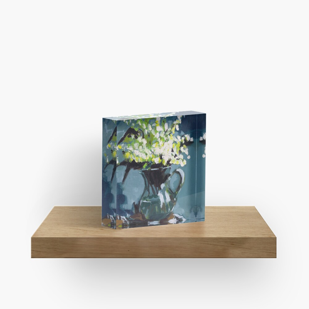 Lily of the Valley Acrylic Block