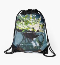Lily of the Valley Drawstring Bag
