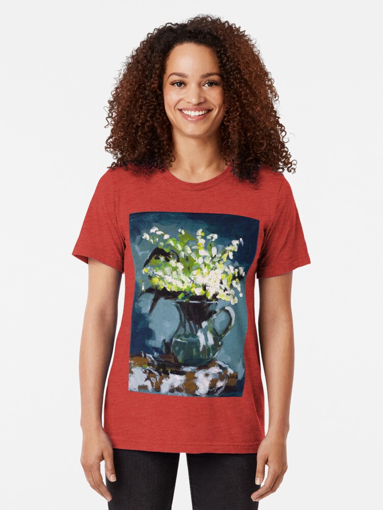 Alternate view of Lily of the Valley Tri-blend T-Shirt