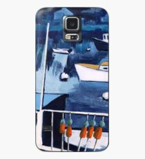 Lobster Boat in Blue Harbor Case/Skin for Samsung Galaxy