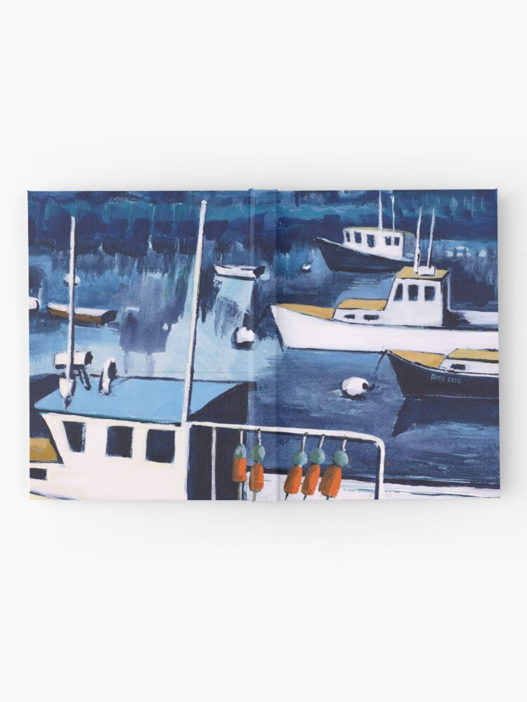 Alternate view of Lobster Boat in Blue Harbor Hardcover Journal
