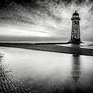 Welsh Lighthouse Storm by Adrian Evans