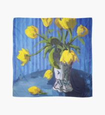 Yellow Tulips with Blue Scarf