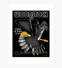 Woodstock 50th Art Print